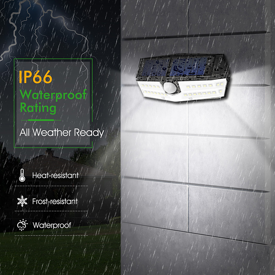 Upgrated Litom IP67 Waterproof Solar Lights 30 LED Super Bright Solar Panel Wall Lamps (4)