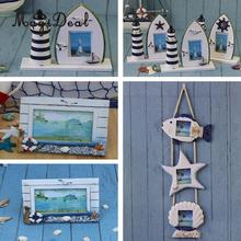 magideal mediterranean nautical wooden photo frame home decoration craft sailboat picture frameschina - Nautical Frames