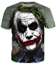 Unisex Hip Hop T shirt Summer Fashion 3D Printed The Joker DC Comics Superhero Tshirt Casual Short Sleeve Men Women S-5XL