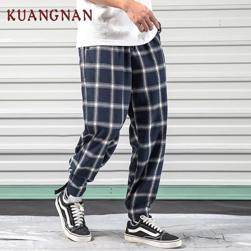 KUANGNAN Pants Jogger Japanese Streetwear Trousers Men Hip-Hop