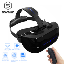 Sovawin Virtual Reality 3D Goggles Glasses VR Helmet Headset WIFI Bluetooth 2.4G HDMI 2K 120 FOV VR Box With Bluetooth Gamepad