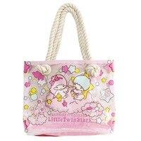 32 or 40cm Little Twin Star Cartoon HandBag Female Tote Bag Large Capacity Fashion Ladies Casual Beach Shoulder Bags