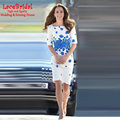 Marfim e Azul Metade Mangas Lace Kate Middleton Vestidos Prêmios celebridades vestidos 2017 Red Carpet Vestidos Cocktail Bodycon K1