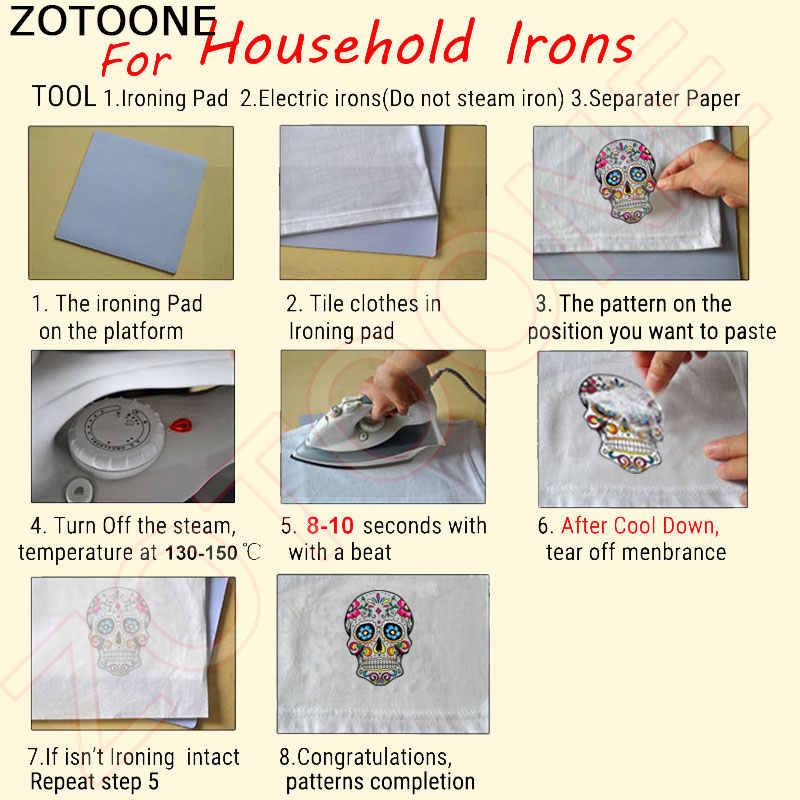 ZOTOONE Happy Easter Patch-ON Transfers การ์ตูนกระต่ายนกฮูก Patches สำหรับเสื้อผ้าเด็กความร้อน DIY สติกเกอร์ไวนิล badge