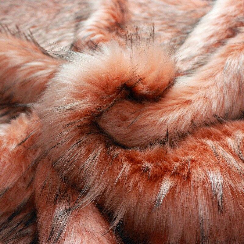 Faux fur meter wasbeer haar thuis tectile kleding tassen schoenen en hoeden pluche bekleding pluizige warmer dikke stof