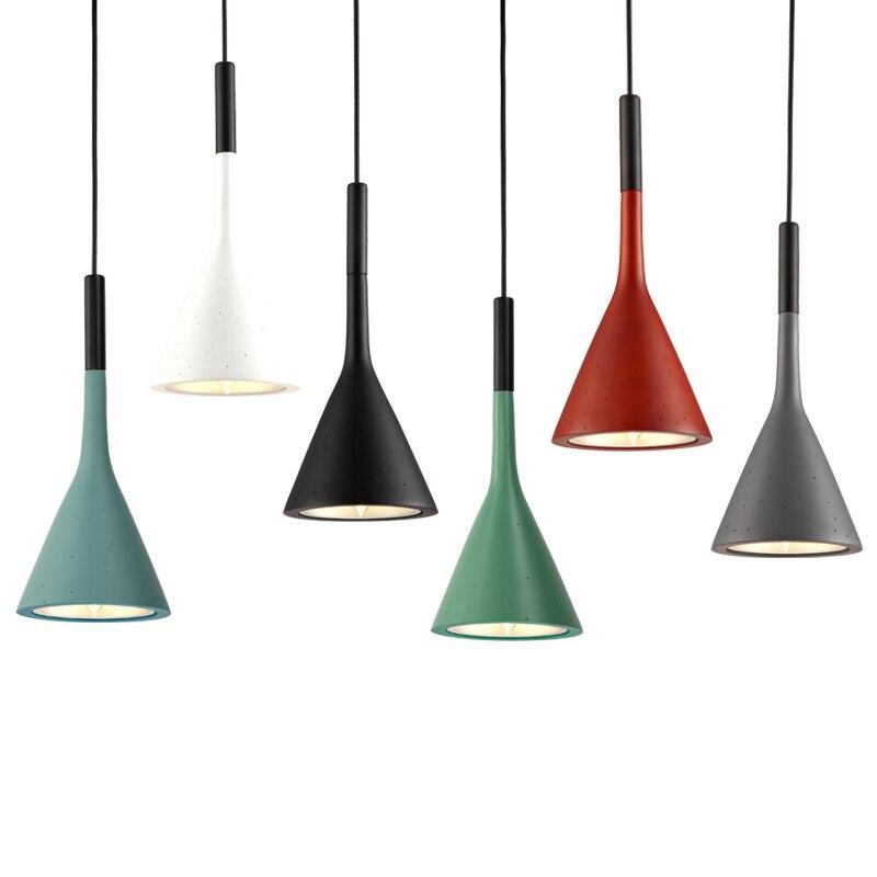 Nordique Aplomb Luminaire Design béton pendentif lumière ciment luminaire suspendu chambre hôtel Bar loft décor lampe industrielle