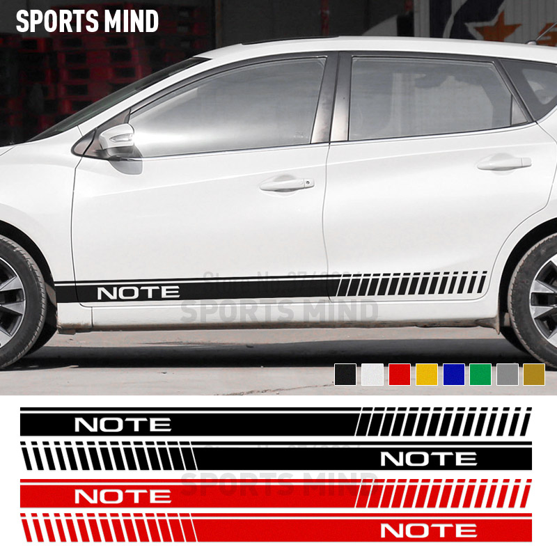 1 Pair Sports mind Door Car Sticker Decal Automobiles Car Styling For Nissan Note Sport Car stickers exterior accessories
