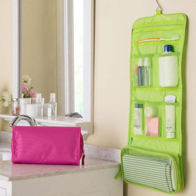 ff2459a6b5 Travel Hanging Toiletry Bag Foldable Bathroom Wash Bag Women Men Hanging  Makeup Organizer Storage Accessories