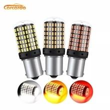 цена на Carardo 1156 1157 LED Bulb Lamp 20W 144SMD LED CanBus Brake lamp BA15S P21W BAU15S PY21W Turn Signal Light No Flash No Error