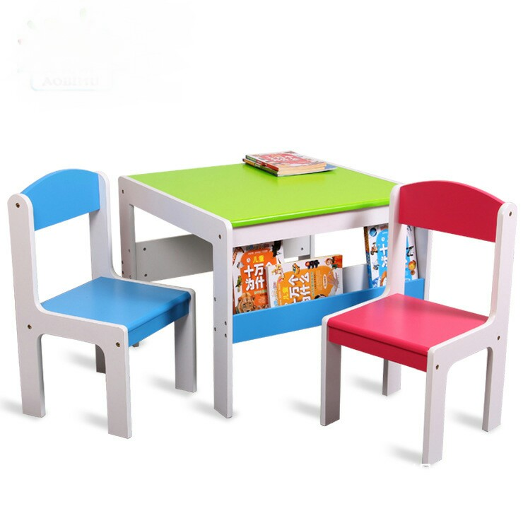 Us 257 59 8 Off Solid Wood Kids Furniture Sets Chair Study Table Whole Can Customize 60 48 Cm 16kg Hot New 2018 In Children