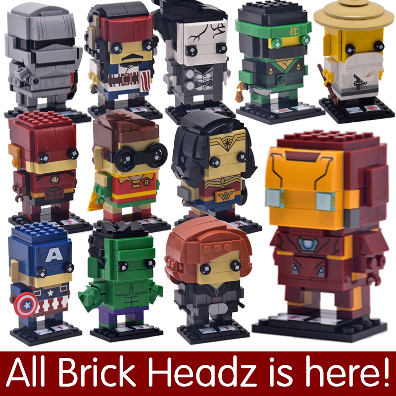 DC Brickheadz Dragon Ball Z Brick Headz Building Blocks Marvel Batman Spiderman Superman loki joker Action Figures legoING Toys legoelied star wars super heros marvel dc minifigures darth revan yoda deadpool batman v superman figures building blocks toys