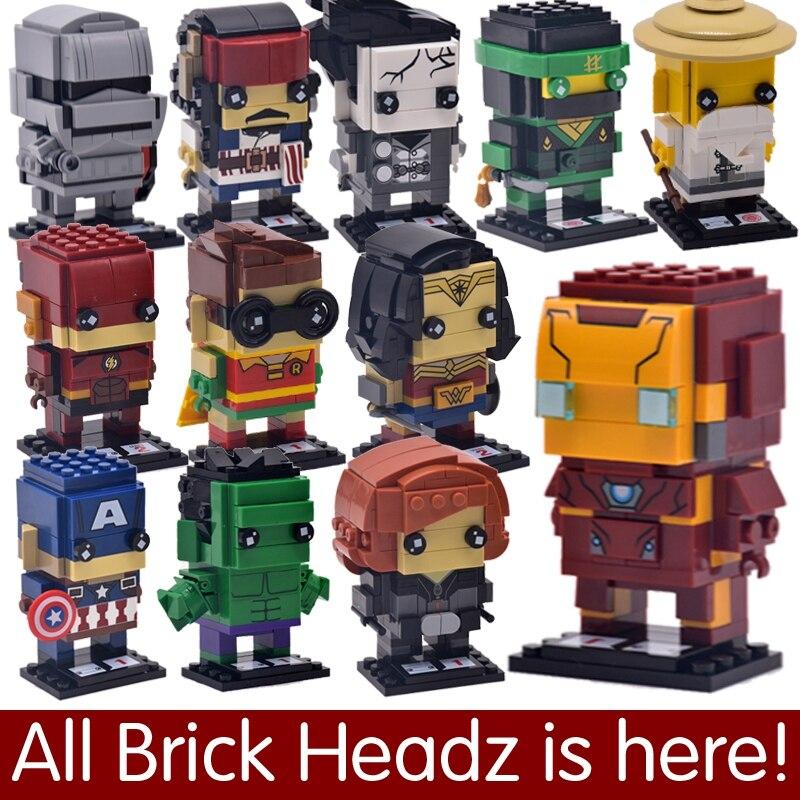 Dragon Blocs Ball Brique De Construction Headz Marvel Batman Loki Legoing Spiderman Brickheadz Superman Dc Jouets Joker Figurines Z A34RSc5Lqj