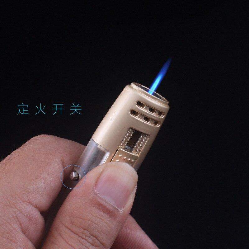 New Portable Pen Spray Gun Jet Butane Torch Lighter Turbine 1300 C Fire Windproof Cigar Pipe Lighter Outdoor Welding Tool No Gas