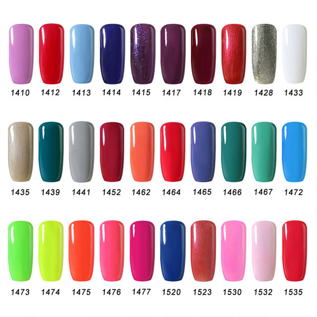 Online Shop Traditional 90 Color Nail Gel Colors Arte Clavo ...