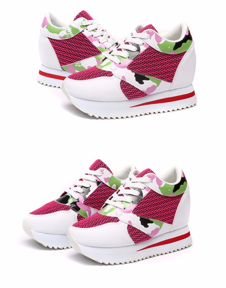 KUYUPP 2016 Fashion 4cm Hide Heels Women Casual Shoes New Breathable Mesh Flat Platform Women Shoes High Top Wedges Shoes YD108 (14)