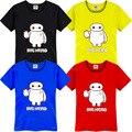 Большой Герой 6 Baymax печатных футболку, детская одежда мальчиков, Большой Герой 6 т рубашки, спорт нижнее белье 100 см-150 см DC752