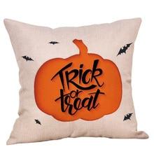 Halloween Cartoon Pillows Cover Pillow Case Sofa Throw Cushion 9 Colors