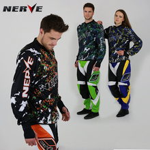 NERVE Motocross Off-Road MTB Racing Jersey + Pants Set Motorcycle Dirt Bike Riding Clothing Couples Off-road suit NY12 + NY31