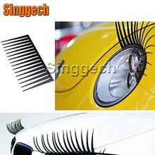 1Pair Car Fake Eye Lash Stickers Headlight For Chevrolet Cruze Aveo Captiva Lacetti TRAX Sail Epica Fiat 500 Punto Stilo Bravo