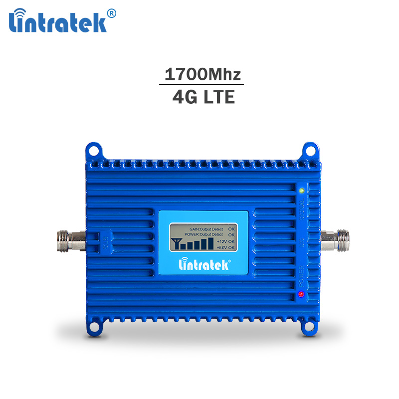 Lintratek 4G LTE 1700Mhz Signal Booster 70dB AGC Band 4 AWS Cellphone Amplifier Repeater 4G LTE Amplificador Internet Booster