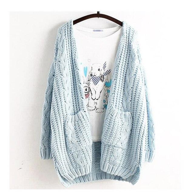 Мори девушка весна Для женщин Сладкий Большой Размеры Повседневное милые свободные кардиган Одноцветная верхняя одежда Лолита милый каваи женский свитер рюшами U218