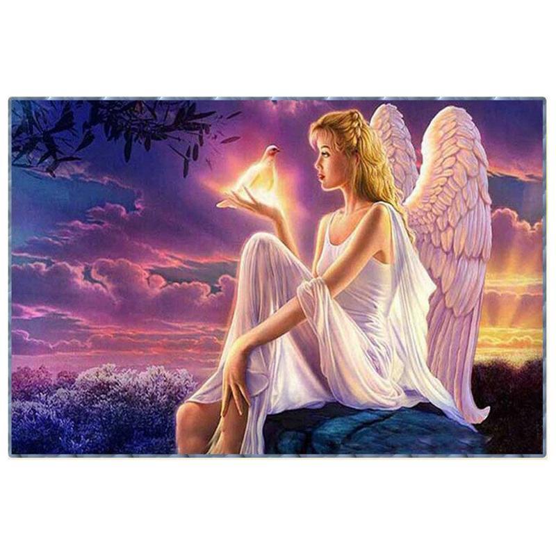 LX/_ ANGEL FULL DIAMOND PAINTING CROSS STITCH EMBROIDERY HOME DECOR WALL CRAFT