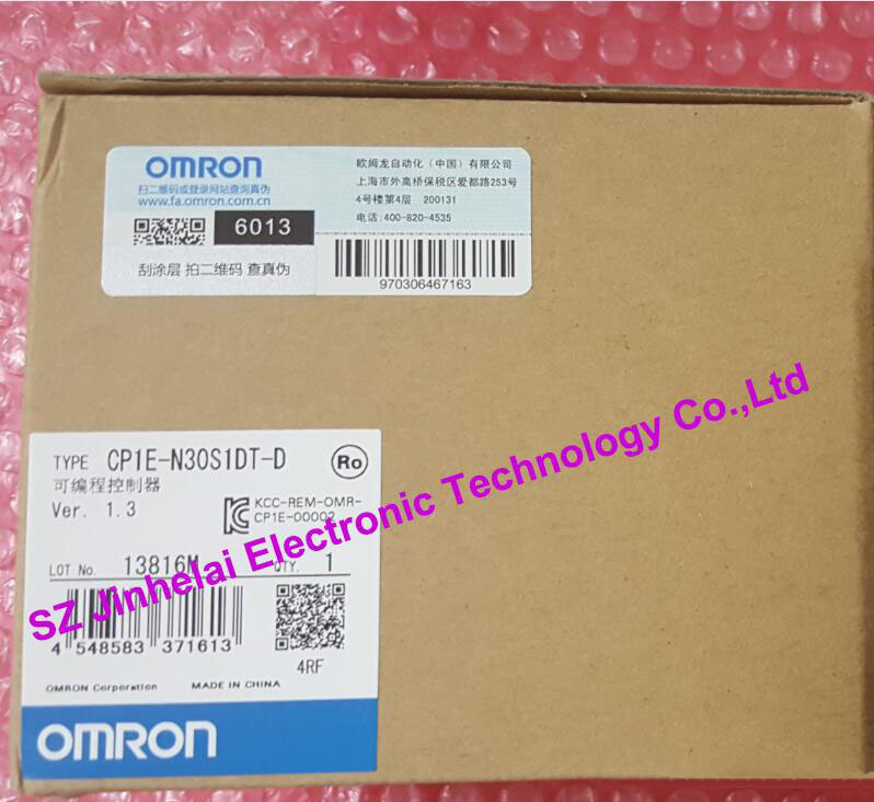 CP1E-N30S1DT-D New and original OMRON PLC CONTROLLER , PLC MODULE new original 1764 mm2rtc plc memory module and real time clock 1500