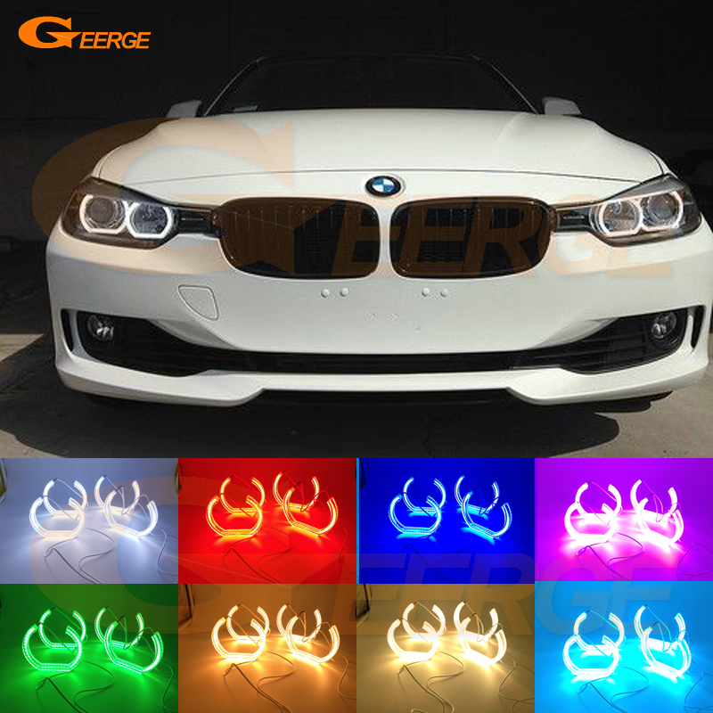 Для BMW 3 серии f30 F34 Ф31 2012 2013 2014 2015 2016 Галогенные фары отличном стиле ДТМ RGB многоцветные светодиодные Ангел глаз комплект