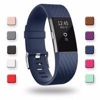 Correas de repuesto de silicona 3D banda para Fitbit Charge 2, pulsera de reloj inteligente Fitbit Charge2