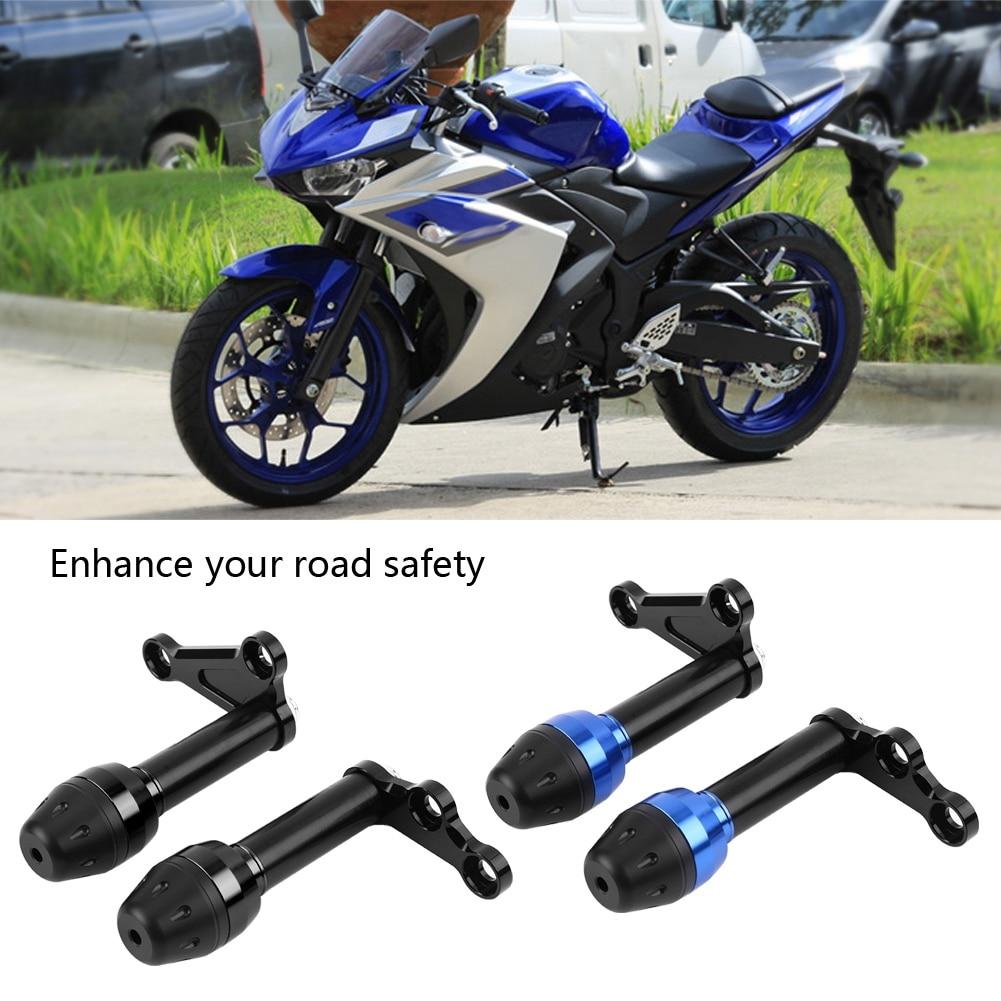 Black 2pcs Motorcycle Crash Bars for Yamaha YZF R3 R25 2014-2016,CNC Aluminum Alloy Frame Slider Crash Falling Protector