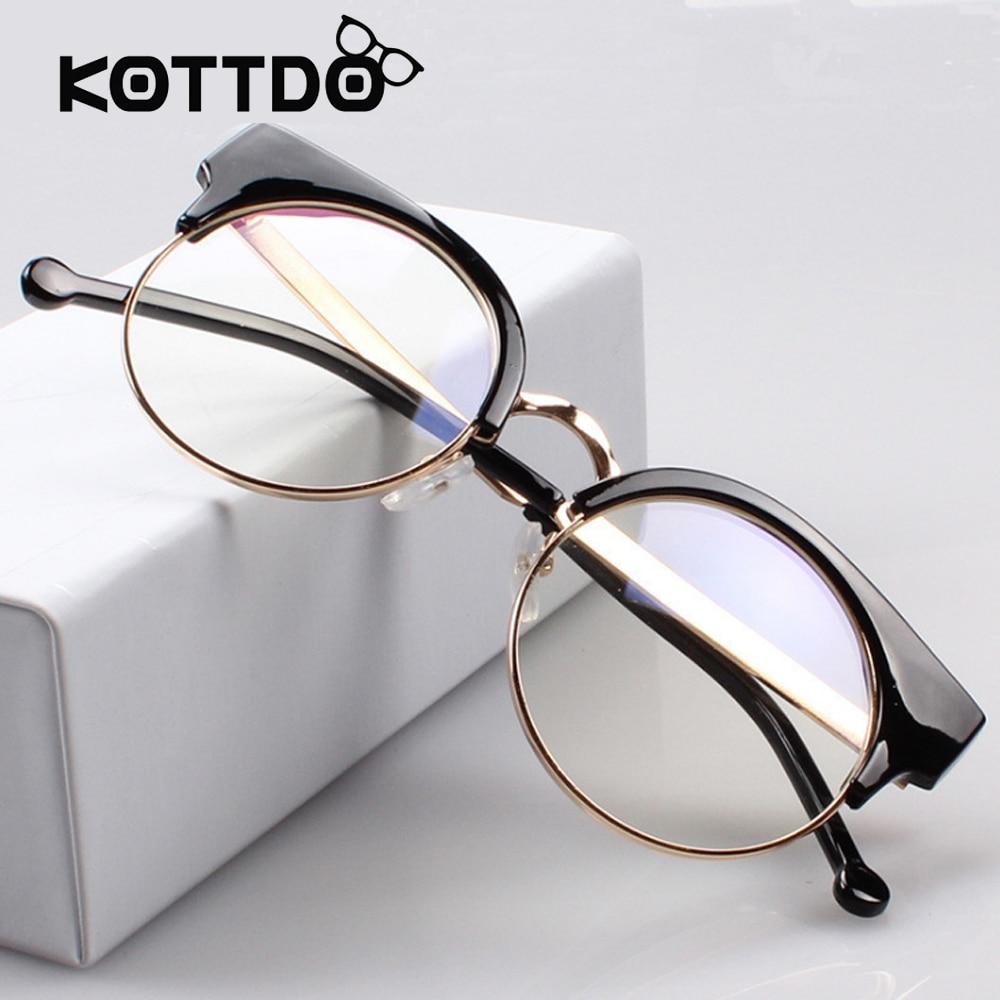 a17f806f75 high Quality Eyewear Half Frames Eye glasses Women Fashion Designer Glasses  Unisex Plain Eyeglass for Women Men Oculos De Grau-in Eyewear Frames from  ...