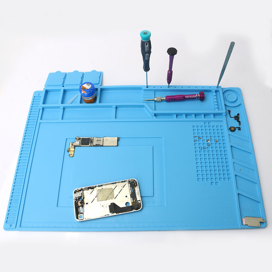Magnetic Heat Insulation Silicone Pad Desk Mat Maintenance Platform with Magnetic Section For BGA Soldering Repair Station 2 in 1 heat insulation silicone soldering pad desk mat maintenance platform for bga soldering repair station
