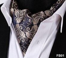 פייזלי פרחוני 100% משי אסקוט עניבה, מזדמן אקארד צעיפי קשרי ארוג מסיבת אסקוט FB