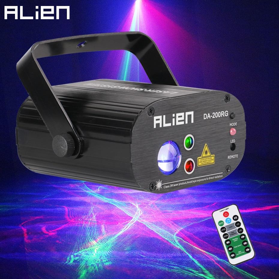 ALIEN Remote RG Aurora Proiettore Laser Con RGB LED Onda di Acqua Del Partito di Ballo Della Discoteca del DJ Bar Di Natale di Illuminazione Della Fase effetto