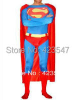 Blue & Red Design Classico Costumi di Halloween Superman Spandex/Lycra Superhero Superman Costume