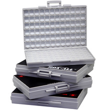 AideTek 4 units of BOX smd storageEnclosure for surface mount components 1206 0805 0603 0402 0201 size plastic toolbox 4BOXALL