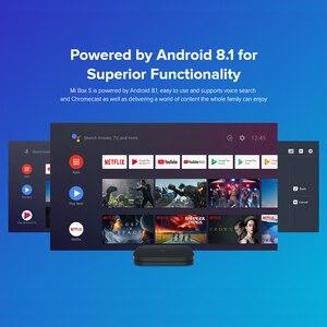 Image 5 - 원래 글로벌 버전 Xiaomi 미 박스 S 안드로이드 8.1 4 K 쿼드 코어 스마트 TV 박스 2 기가 바이트 8 기가 바이트 HDMI 2.4G 5.8G 와이파이 말리 450 1000Mbp
