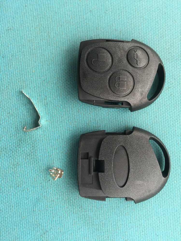 Coque de clé automatique 1pc pour Ford c-max Fiesta Mondeo Galaxy pièces de rechange de voiture 3 boutons à distance housse de clé de voiture vierge sans logo