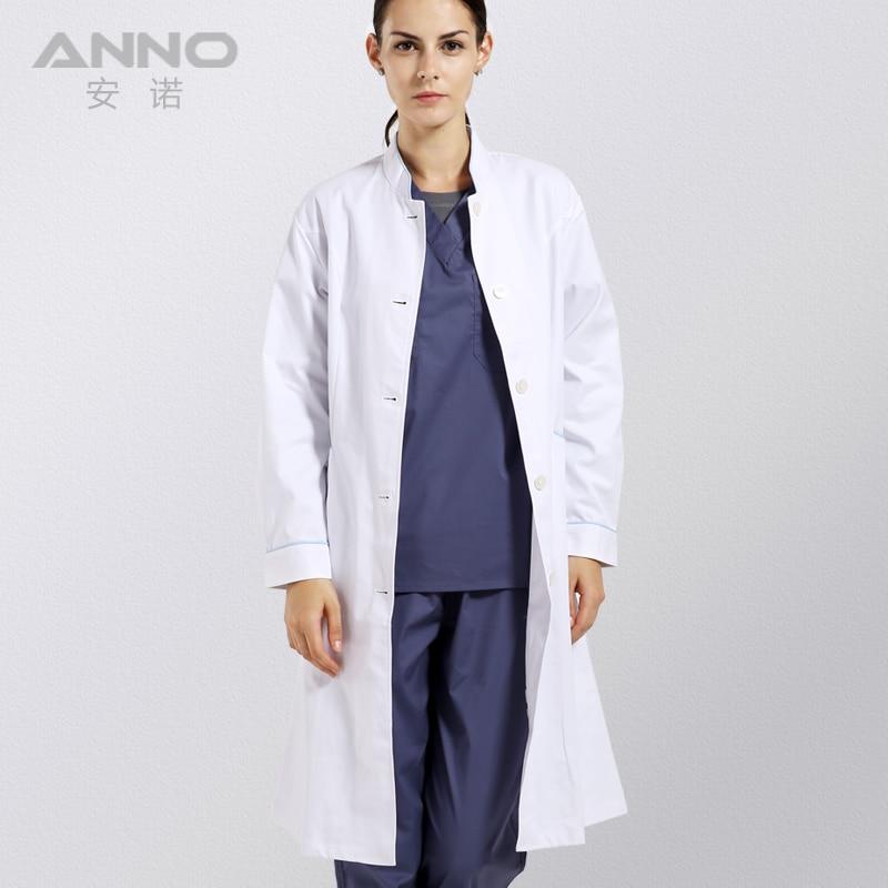 Doctor's Overall Long sleeve White Coat Doctor uniform nurse ...