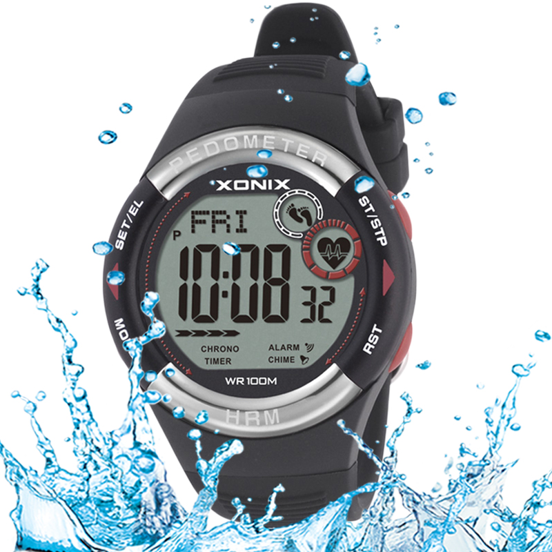XONIX 2016 NEW Women watch Men's Multi-Function Waterproof Smart Sports Watch HRM3 Heart Rate Fitness Tracker Pedometer Pair men s multi function waterproof smart sports running watch s2 with pedometer pair with android 4 3 ios6 0 or higher bluetooth
