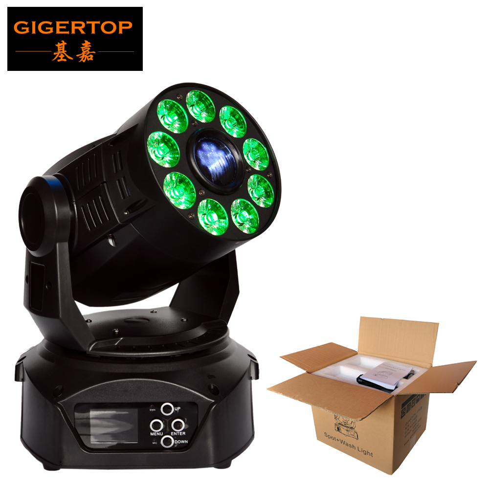 TIPTOP TP-L669 75W Spot Wash Led Moving Head Light Wide Beam Angle 21 DMX Channels Dual Gobo Wheel/7 Color Glass Wheel CE ROHS niugul dmx stage light mini 10w led spot moving head light led patterns lamp dj disco lighting 10w led gobo lights chandelier