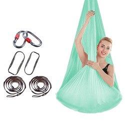 De Ventilatie Antenne Yoga Hangmat Body Building Yoga Riemen met Haken en Touw Meubelen Geen Knotting Indoor Swing Bed 4m