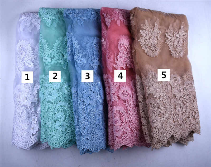 Bianco puro Tessuti di Pizzo Africano Pietre di Alta Qualità Tessuti di Pizzo Francese Nigeriano Tulle Tessuti di Pizzo Per Il Vestito Da Sposa Y1575