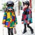 С капюшоном Девушки Пальто Осень Зима Теплые Куртки Детей Верхняя Одежда Детская Одежда