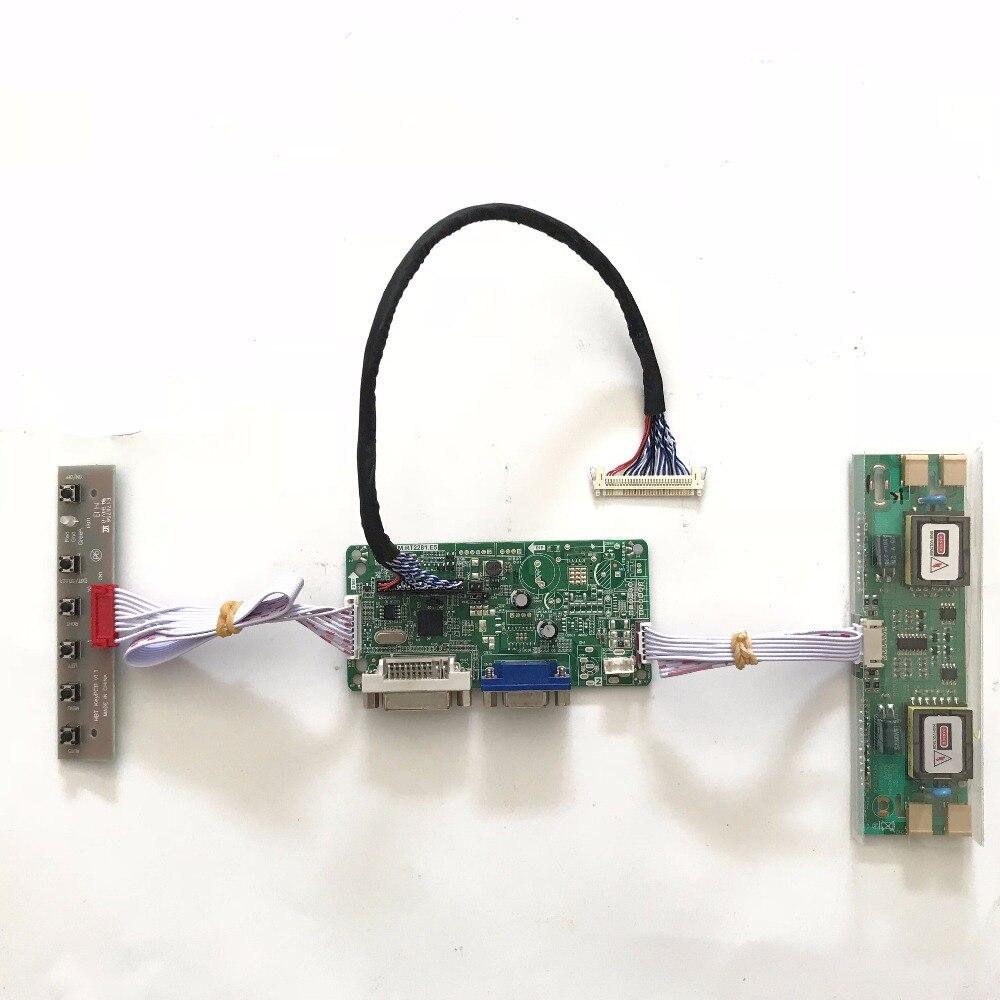 RT2281 Universel DVI VGA LCD Carte Contrôleur pour 24 pouce 1920x1080 GARANTIE M240HW01 V0 V2 4 CCFL LVDS Moniteur Kit