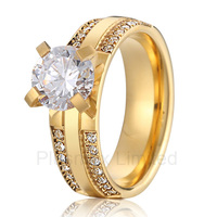 Best China cheap pure titanium jewelry factory masterfully designed classic engagement wedding rings for women