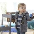 Новое Прибытие Мальчиков Младенца Куртки Зима Теплая Детей Верхняя Одежда Повседневная Дети Вниз Пальто Хлопка С Капюшоном Одежда Для Малышей