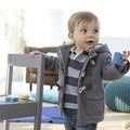 Nova Chegada Do Bebê Meninos Casacos de Inverno Quente Casacos Crianças Roupas Casuais Crianças Para Baixo Casacos de Algodão Com Capuz Vestuário Para Criança