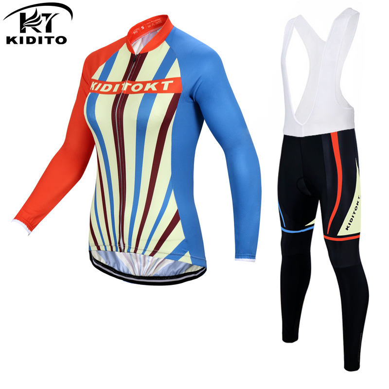 ФОТО KIDITOKT Wallis Keep Warm Winter Women Cycling Jerseys/Mountian Bicycle Sportswear/Thermal Fleece Bike Cycling Clothing 2017