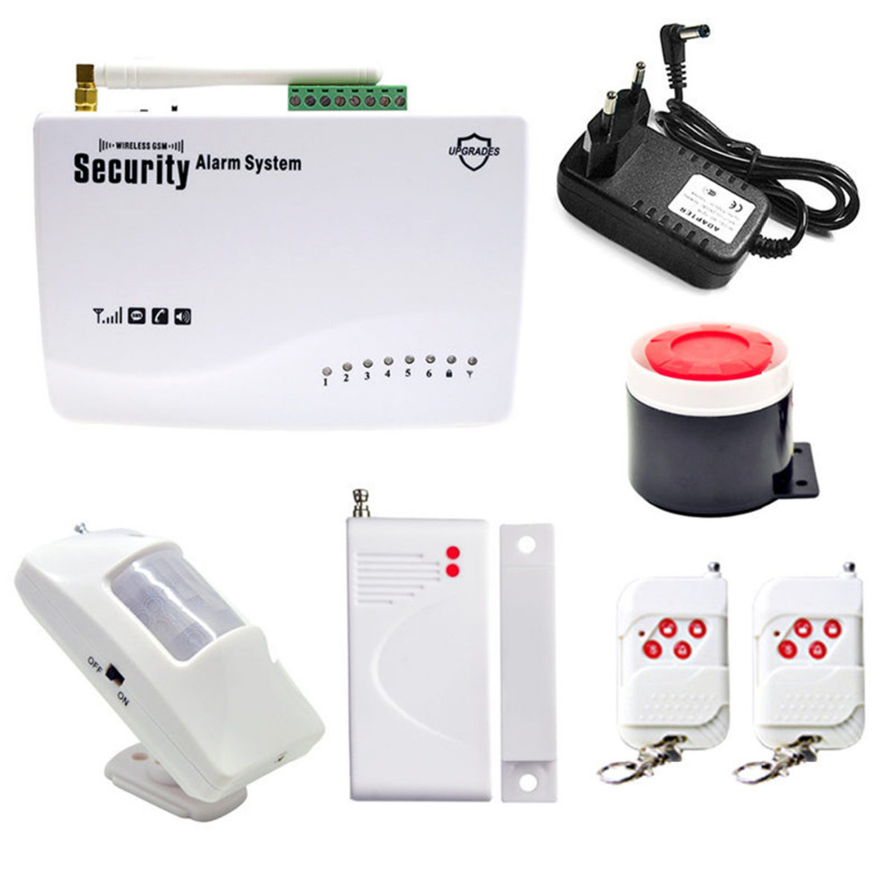 Wireless GSM Alarm System  Dual Antenna Home Burglar Security Burglar Alarm System Auto Dialing SMS Call Support Russian/EnglishWireless GSM Alarm System  Dual Antenna Home Burglar Security Burglar Alarm System Auto Dialing SMS Call Support Russian/English